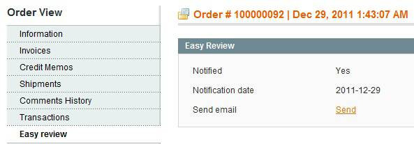 Easy review for Magento screen 4