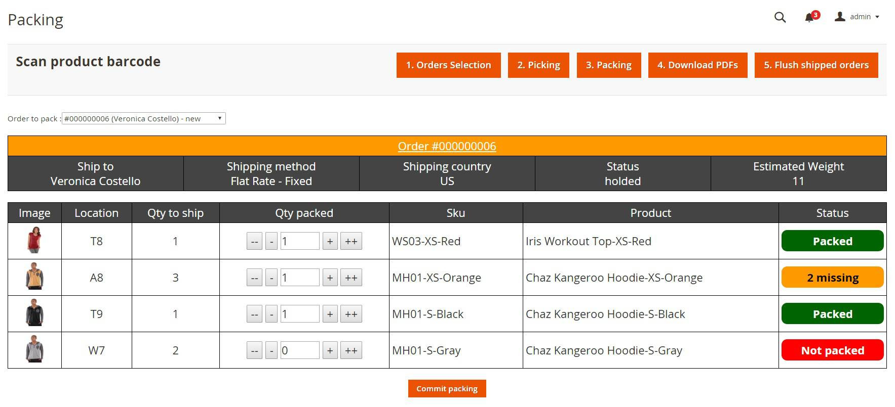 screen 1 order preparation erp magento 2