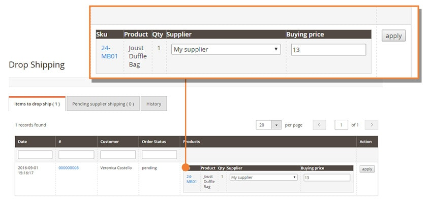 Screen Drop Shipping M2 Setting